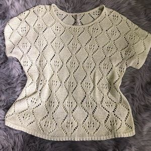 Leo and Nicole loose knit top light green